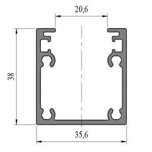 Profil 5309 na ogrodzenia aluminiowe