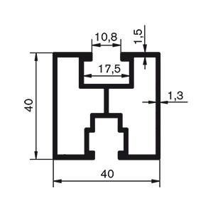 Profile do montażu paneli fotowoltaicznych - szyna 40x40