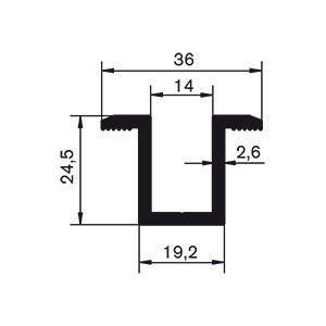 Profile aluminiowe do fotowoltaiki - klema klamra środkowa